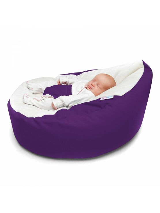 GaGa Vivid Purple Soft and Comfortable Baby Bean Bag Seat