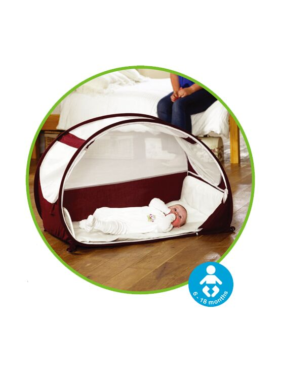 Koo-Di Pop-Up Bubble Travel Cot - Aubergine