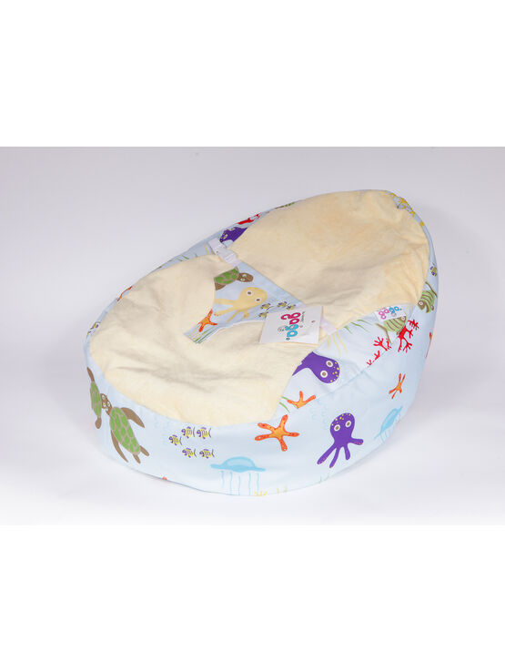 GaGa Pre-filled Baby Bean Bag With Luxury Cuddlesoft Seat - Under the Sea Design