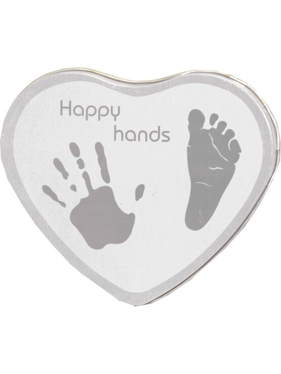 Happy Hands Baby Hand & Footprint Cast Tin Silver