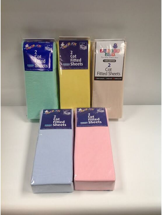 Junior Joy fitted Cot Sheets - 2 Pack