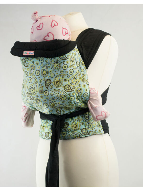 Palm & Pond Mei Tai Baby Carrier - Blue and Yellow Paisley