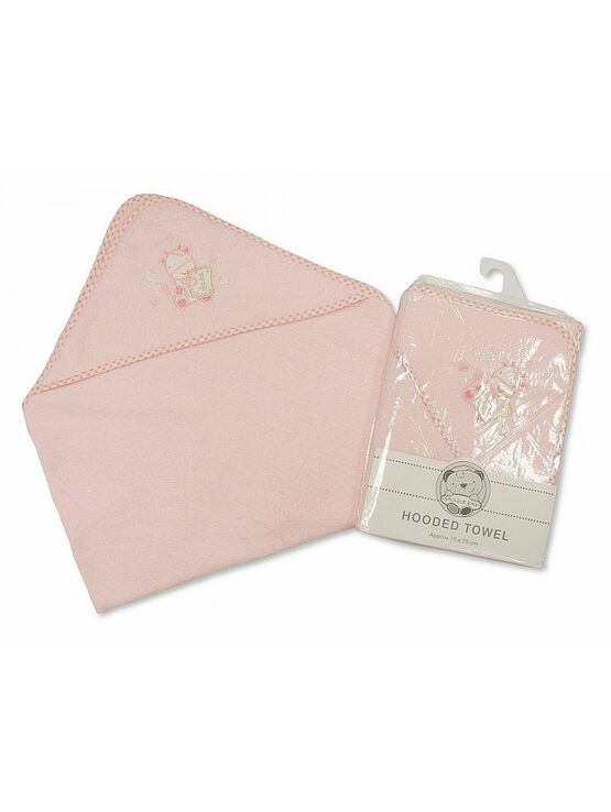 Snuggle Baby Hooded Towel 75x75 cm Pink Soap