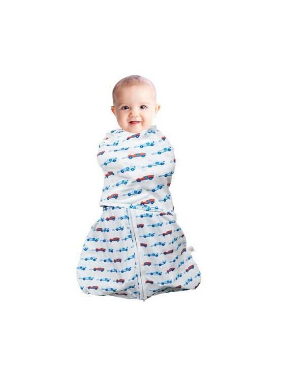 Clevamama Swaddle Bag 2 in 1 Blue 0-3 mths