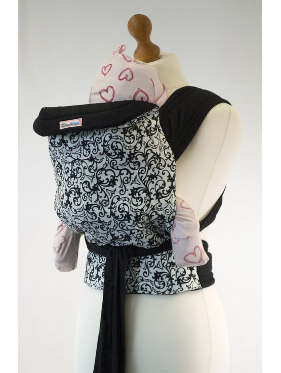 Palm & Pond Mei Tai Baby Carrier - White Floral Vintage