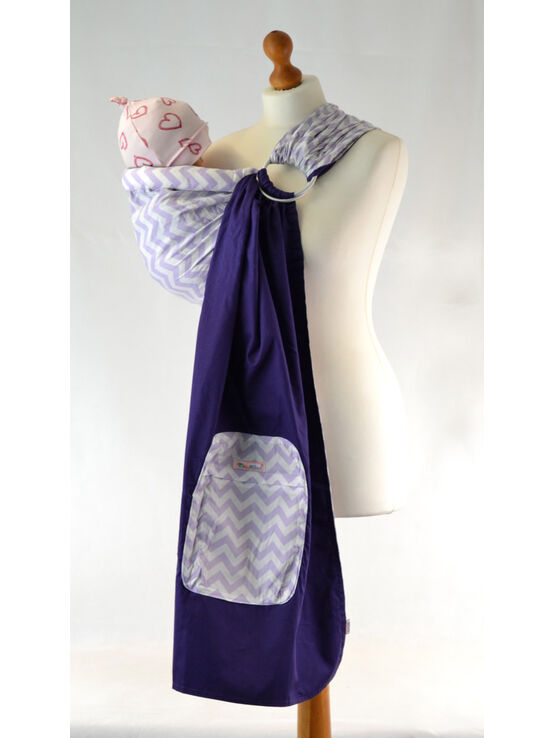 Palm and Pond Ring Sling Purple Zigzag