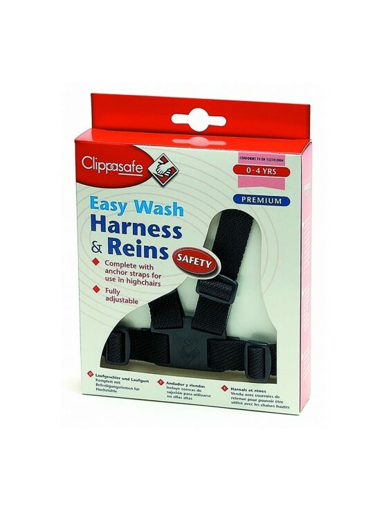 Clippasafe Easy Wash Harness & Reins - Navy