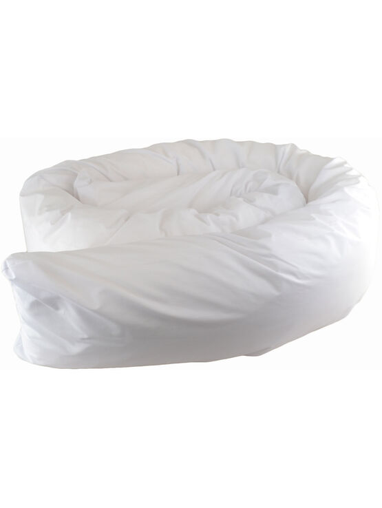 Cuddles Collection 12ft Body & Support Pillow White