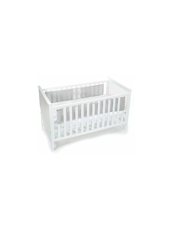 Breathable Baby Mesh Cot Liner - Silver/Grey