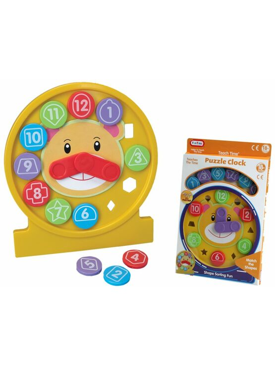 Teach Time Puzzle Clock - Assorted Colours