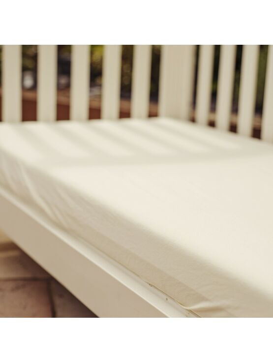 Fitted Pram Sheets Twin Pack - Cream