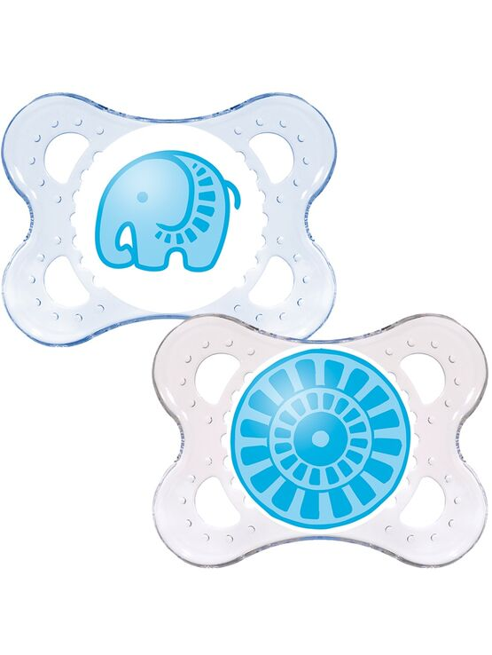 MAM Clear Soother 0+ months 2 Pack