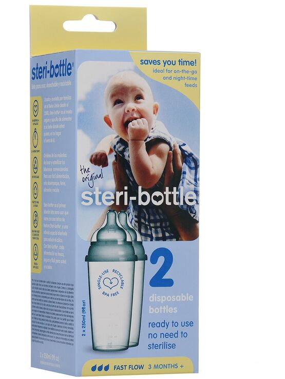 Steri-Bottle Disposable Bottles 2 pack